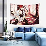 xuxirthv Men Women Stylish Tapestry Wall Hanging 60 x 40 in, Easy Install Skin-Friendly Japanese Anime Fairy Tail Erza Scarlet Manga Tapestry, Delicate Table Cloth for Door Decor Living Room