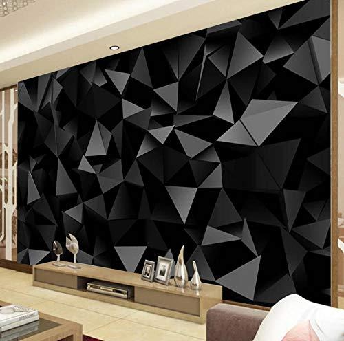 Fototapeten 3D Effekt Wandbild Geometrisches Muster Des Schwarzen Dreiecks 400X280Cm Wandbild Tapete Moderne Wohnzimmer Mural Schlafzimmer Kinderzimmer Tv Hintergrund Wand Dekoration