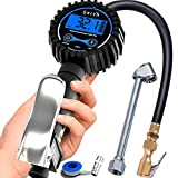 GERCHWAY Digital Tire Inflator with Pressure Gauge and Longer Hose, Air Chuck with Gauge for Air Compressor - 200PSI