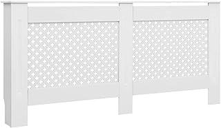 Festnight Cubre Radiador Mueble para Radiador Cubierta para Radiador MDF Blanco 112x19x81,5 cm
