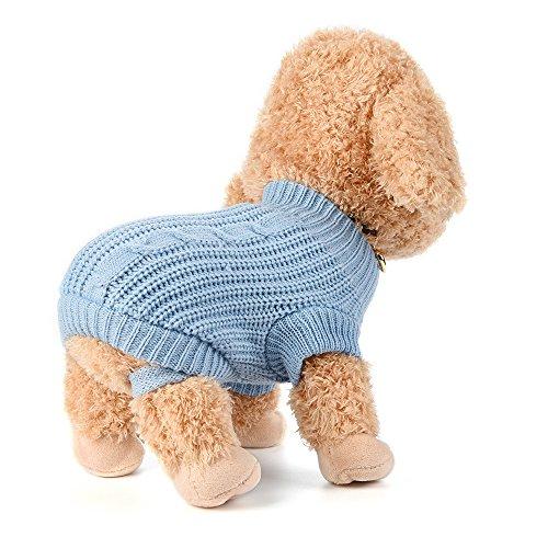 Ropa Perro Pequeño Chihuahua Yorkshire Pomerania Invierno Jersey de Punto cálido suéter Cachorro Abrigo