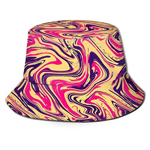 136 Gorra abstracta colorida de pescador de ala ancha para el sol, gorra de papá para correr y gimnasio