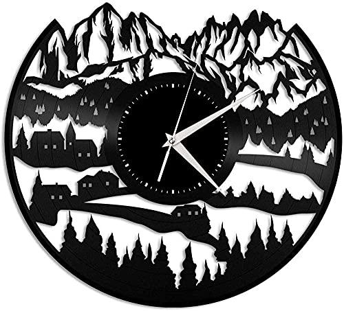 Alps Disco de Vinilo Reloj de Pared Regalo Hecho a Mano Creativo decoración de Pared Regalo de cumpleaños