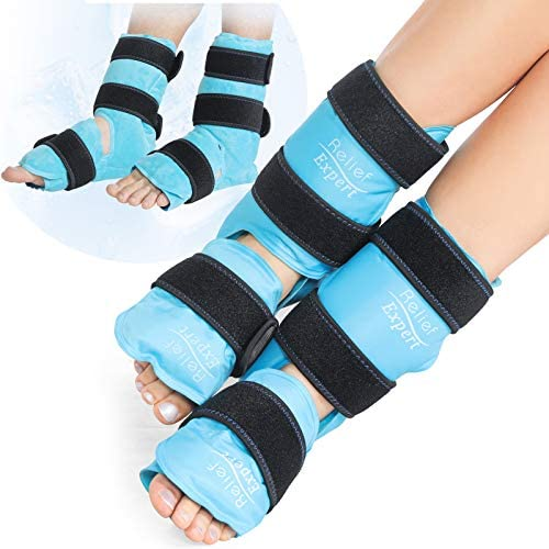Relief Expert Ankle Foot Ice Pack Wrap for Injuries Reusable Gel Cold Pack with Cold Compression product image