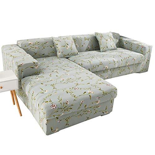 chinejaper Juego de funda de sofá en forma de L, funda elástica de sofá de cobertura completa