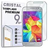 REY Protector de Pantalla para Samsung Galaxy Core Prime Cristal Vidrio Templado Premium