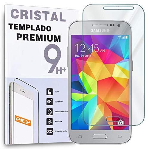 REY Protector de Pantalla para Samsung Galaxy Core Prime Cristal Vidrio Templado...