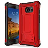 Anccer Armor Series for Samsung Galaxy S7 Active Case with Kickstand Anti Shock Dual Layer Anti Fingerprint Protective Cover for Galaxy S7 Active (Not Fit for Galaxy S7) - Red
