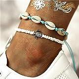 OYPY Amore del Cuore di Bracciali Charm Bracelet Ankle Lock Set Boho Bohemien Gioielli in Oro Catene Infinity Doppi for Le Donne del calzino del Piede (Color : Turtle Shell)