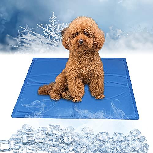 Enfriamiento para Camas de Mascotas,Alfombrilla de Refrigeración para Perros,Manta para Perro Fresco,Alfombra Fresca para Perros,Ideal para Perros Y Gatos En Verano(65*50 cm)