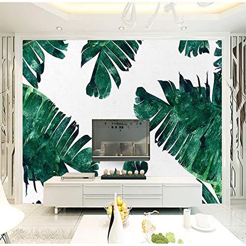 Liwenjun 3D Wallpaper - Non Woven - Wandbilder - Inneneinrichtungen - Fototapete Papierrolle - 3D - Modern - Spitzwegerich Pflanze, 300 * 210cm