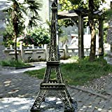 Kakalote Eiffel Tower Statue Decor Alloy Metal Collectible Figurine Replica Souvenir Room, French Eiffel Tower Party Decoration Table Stand