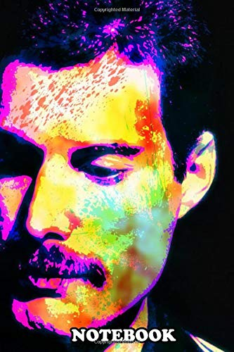 Notebook: Freddie Mercury Abstract Portrait Queen Colors Music Po , Journal for Writing, College Ruled Size 6