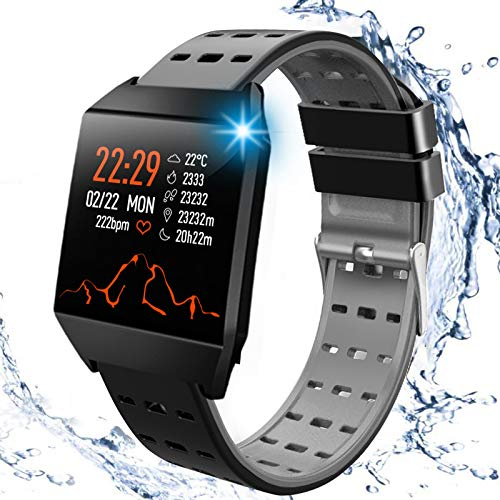 Beaulyn Smart Watches, Fitness Trackers Smartwatch Colorful Screen with...