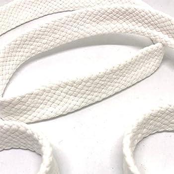 Anrox Supply Co 3/4  Braided Cotton Flat Cord Drawstring Drawcord Handles Lace Trim