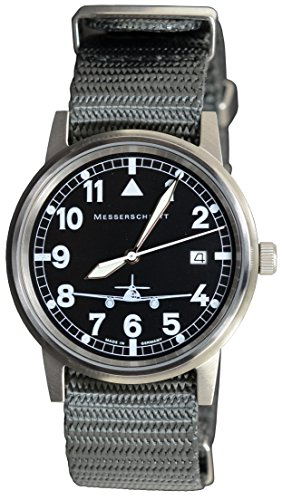 Messerschmitt Fliegeruhr by Aristo ME 262-S Nato Armband Ronda - Made in Germany
