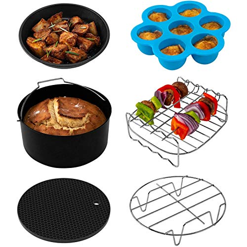 COSORI Set of 6 Fit all 3.7Qt, 4.2Qt Air Fryer, BPA Free, Dishwasher Safe, Nonstick Coating