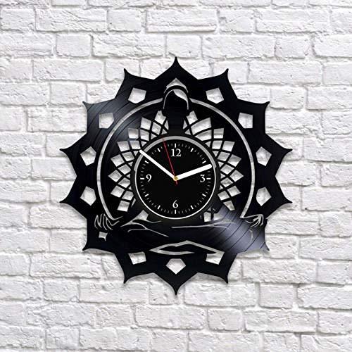 Reloj De Pared De Yoga Reloj De Pared De Mandala Disco De Vinilo Reloj De Regalo Para Mujer Reloj De Yoga
