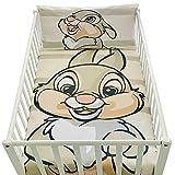 Funda de edredón para bebé de 100 x 135 cm y funda de almohada de 40 x 60 cm | Juego de cama Panpan, para cama de 60 x 120 o 70 x 140 cm | Ropa de cama Disney para todos los pequeños 100% algodón.