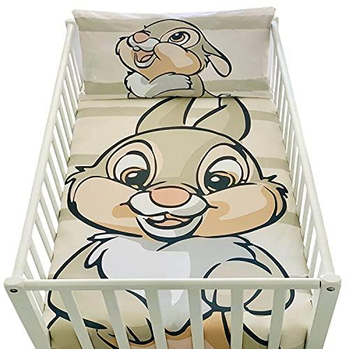 Housse de Couette Bebe 100x135cm et taie d'oreiller 40x60cm   Parure de lit PanPan pour lit 60x120 ou 70x140cm   Linge de lit Disney pour Tout-Petits 100% Coton