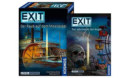 EXIT Kosmos 691721 Spiel: Der Raub auf dem Mississippi Buch: Der Jahrmarkt der Angst (Level: Fortgeschrittene