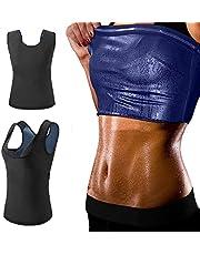 Aoweika bastu väst svett kroppsformare väst viktminskning ingen dragkedja magkontroll kroppsform för träning fitness gym