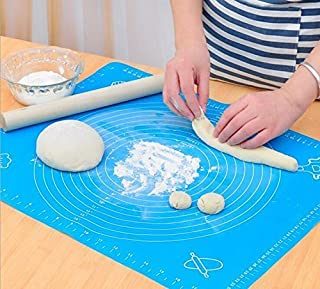 Sungpunet Extra Large Silicone Baking Mat for Pastry Rolling with Measurements Pastry Rolling Mat, Reusable Non-Stick Sili...