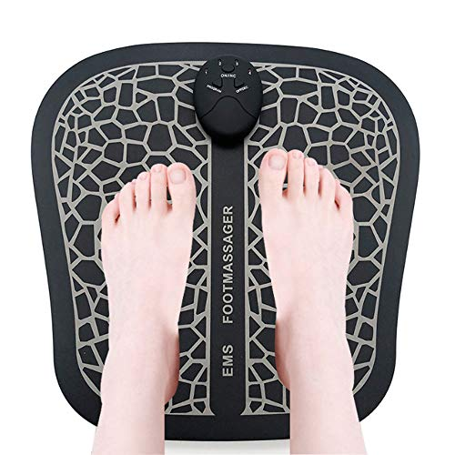 cscd Electric Foot Massage,Ems Circulation Massage Muscle Mobility Booster,Tens Relief Tired Legs,6 Vibration Modes 10 Intensity Levels