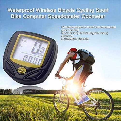 Fahrradcomputer Delicacydex Wasserdichtes drahtloses Plastikfahrrad, Das Sport-Fahrrad-Computer-Geschwindigkeitsmesser-Kilometerzähler mit LCD-Anzeige radfährt - 5