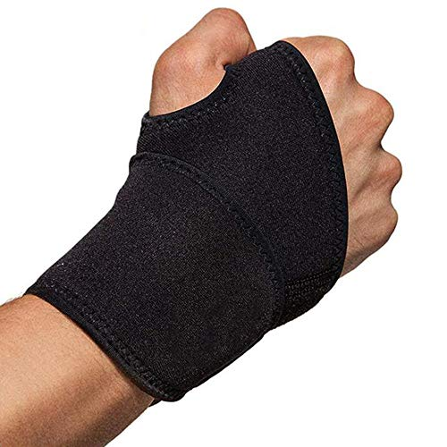 Xinlie Adjustable Wrist Bandage Breathable Wrist Splint Sports Wrist Protector Wrist Wraps Wrist Bandages Support Breathable Wrist for FitnessBench PressWeightlifting One Size Fits LeftRight Hand