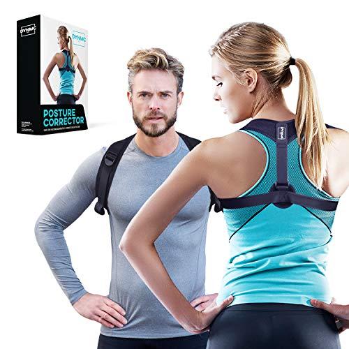 Haltungskorrektur für aufrechte Körperhaltung - Rückenstütze unter/über der Kleidung tragen - Gerader Rücken im Büro - Keine Rückenschmerzen - Qualitäts Posture Corrector für Damen & Herren