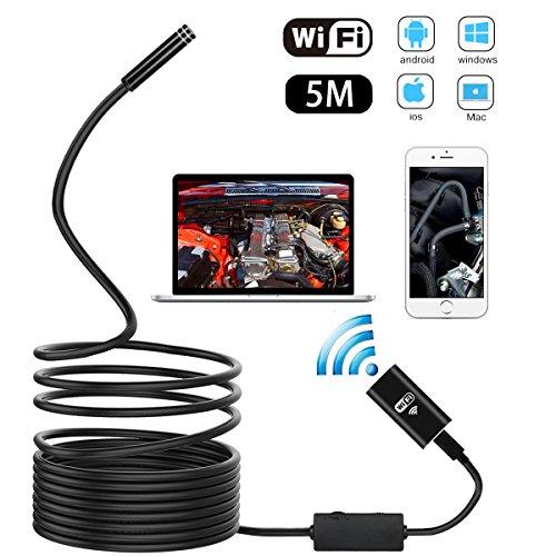 METALBAY HD Cámara Endoscópica WIFI Impermeable IP67 USB Endoscopio 2,0 Megapíxeles Video...