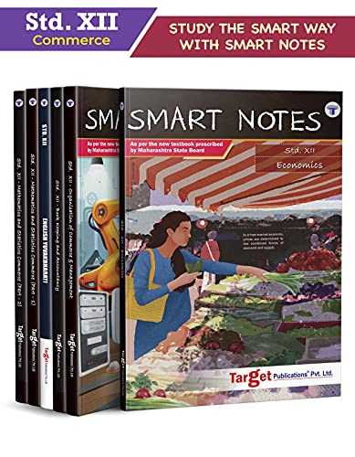 Std 12 Commerce Books (Economics, OC, BK, Eng, Maths 1 and 2)   SYJC Commerce Guide   Smart Notes   HSC Maharashtra State Board   Based on the Std 12th New Syllabus   Set of 6 Books [Paperback] Content Team at Target Publications