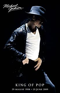 Pyramid America Michael Jackson King of Pop Memorial Dates Cool Wall Decor Art Print Poster 11x17