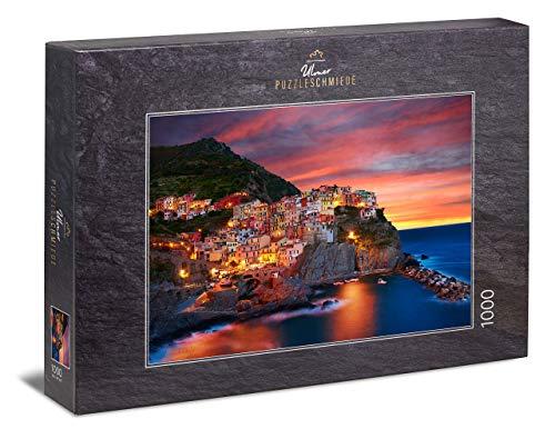 Ulmer Puzzleschmiede - Puzzle Manarola - Puzzle 1000 Pezzi - Cinque Terre, Riviera Italiana, al Tramonto