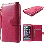 DFV mobile - Crazy Horse PU Leather Wallet Case with Frame