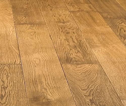 HORI® Massivholzdiele Eiche rustik Cognac Landhausdiele 1-Stab mit Fase geölt I für 46,36 €/m²