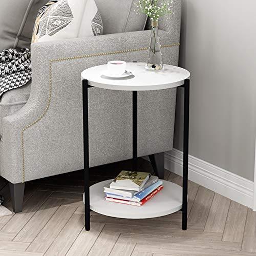 nachtkastje bijzettafel, eindtafel, salontafel, met metalen frame, gemakkelijk aan elkaar te zetten, voor woonkamer, slaapkamer, keuken, vintage