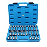 CCLIFE 26 pezzi,set di chiavi a bussola XZN (+15% grado di durezza, acciaio S2), set con inserti M5 - M16