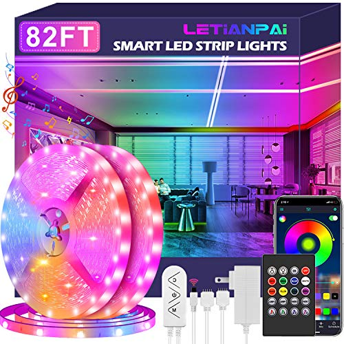 powerful LED Strip 25m Extra Long Strip Smart LED Light Music Sink 5050 Color Change RGB…