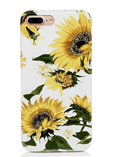 FAteam - Carcasa para iPhone 7 Plus/8 Plus, diseño de Girasol, a Prueba de arañazos, de Poliuretano termoplástico, Compatible con iPhone 7 Plus/8 Plus y iPhone 7 Plus de 5,5 Pulgadas (Flor de Sol)
