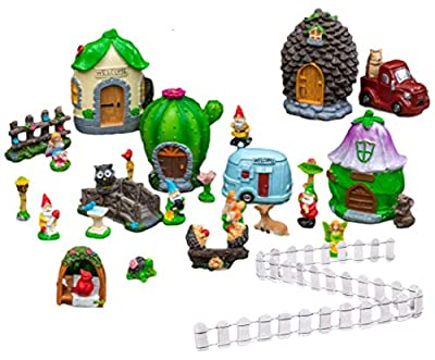 Fairy Garden Kit for Adults with Four Houses