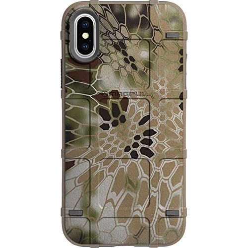 "Limited Edition Customized Prints by Ego Tactical Over a Magpul MAG1094 Bump Case for Apple iPhone X/Xs 5.8"" - Kryptek Nomad Camouflage"