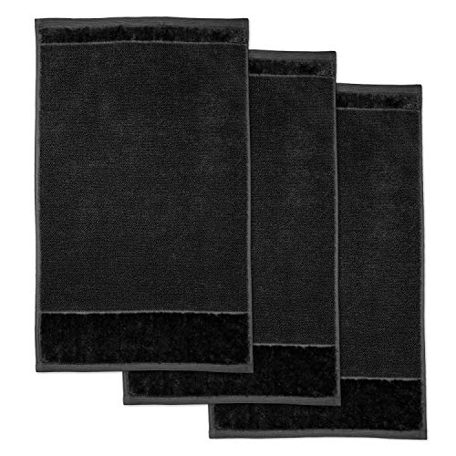 Möve 3er Set Gästetücher schwarz 30x50cm