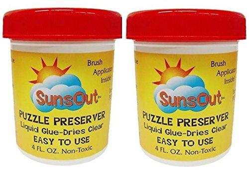 SunsOut Puzzle Preserver Glue 2-Pack