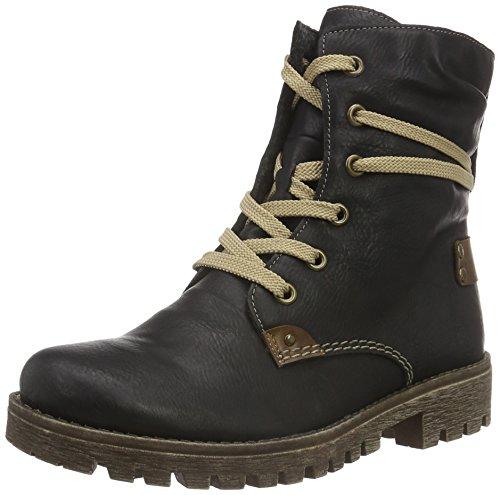 Rieker 78530 Damen Stiefel, Boot, Stiefelette mit Reißverschluss schwarz (schwarz/Mogano / 00), EU...