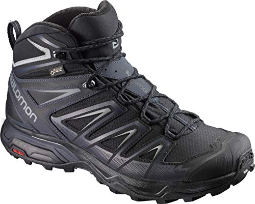 SALOMON X Ultra 3 Mid GTX BK Monument, Scarpe da Arrampicata Alta Uomo, Nero (Black/India Ink/Monu 000), 44 EU
