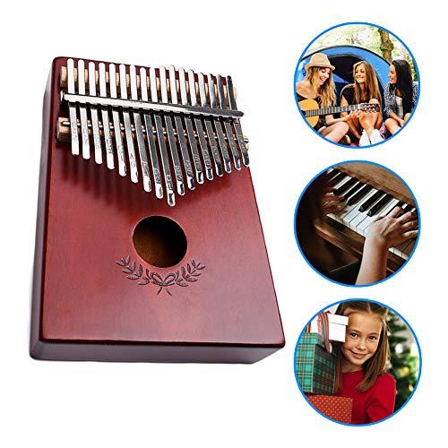 LYTLD Kalimba Daumenklavier 17 Schlüssel Daumen-Klavier mit Stimmhammer, tragbares Mbira Sanza afrikanisches Holz Finger-Klavier für Kinder Erwachsene Anfänger