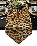 Piel de leopardo Manteles tablerunner Decoración de fiesta del partido de la vendimia de la boda Vector Runner pequeño picnic dining-PC 1 può essere all'ingrosso (Color : A, Size : 33x229cm)