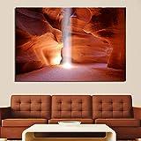 wmyzfs Leinwand Poster Antelope Canyon Malerei Kunst